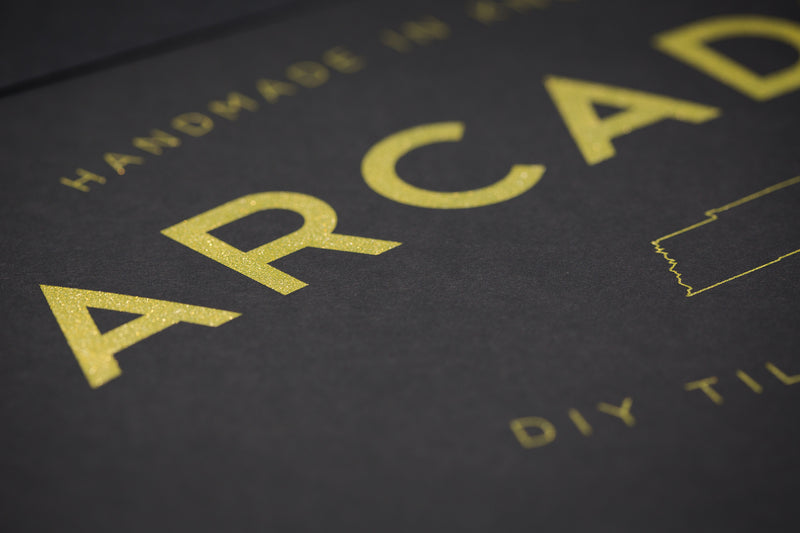 Hand Printed Poster w/ Metallic Gold Ink (Limited) - Arcadian Grooming: Pomade, Beard Care, Men's Grooming Supplies