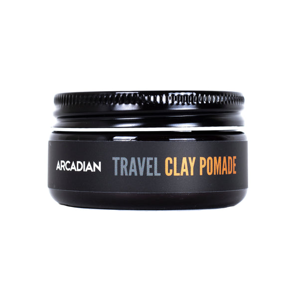 Travel Clay Pomade - Arcadian Grooming: Pomade, Beard Care, Men's Grooming Supplies