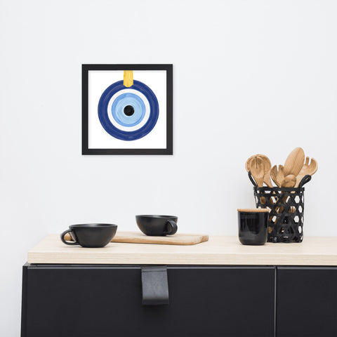 Framed Photo Paper Poster- Keep the Evil Eye Away