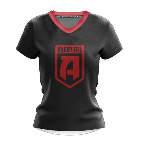 Rugby ATL Women's Cotton T-shirt- Black