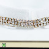 10K Yellow Gold Diamond Tennis Bracelet - 6.93 CTTW