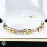 14K Yellow Gold Diamond Bracelet - 8.04 CTTW