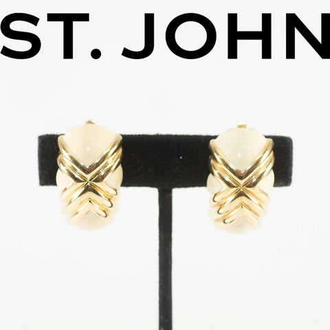 St. John Clip-On Earrings