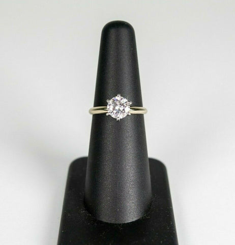 14K White Gold Charles & Colvard Forever One .97CTW Moissanite Solitaire Ring