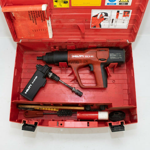 Hilti DX A40 Powder Actuated Concrete Gun w/ X-AM32 and case