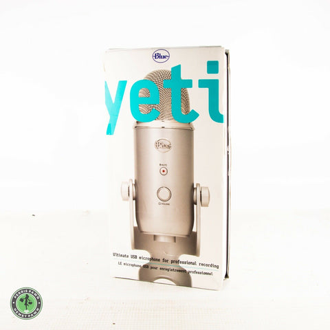 Blue YETI SILVER Color USB Professional Streaming MICROPHONE Complete in BOX