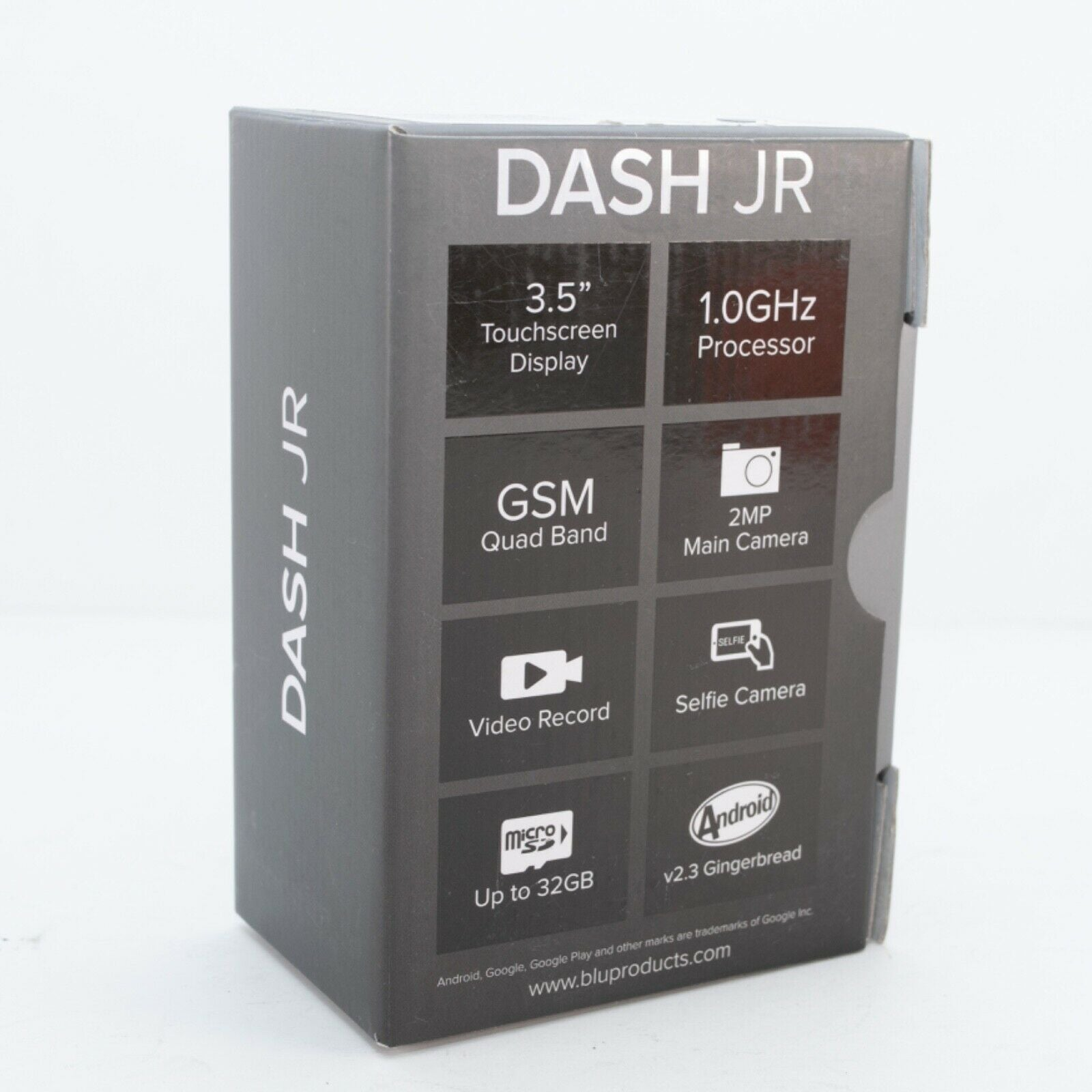 BLU Dash JR W D141w - Black (Unlocked) Smartphone