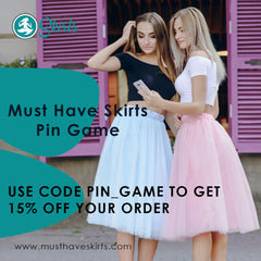Get 15% off anything in the MustHaveSkirts.com store with the code PIN_GAME