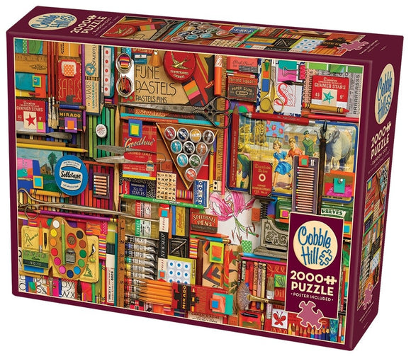 Table Top Cafe Puzzle: 2000 Vintage Art Supplies