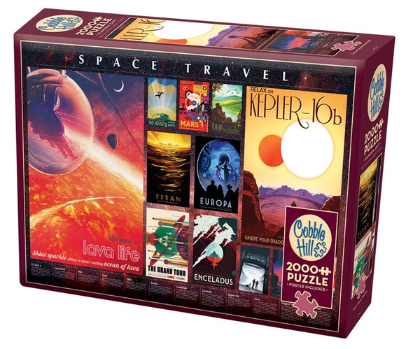 Table Top Cafe Puzzle: 2000 Space Travel Posters