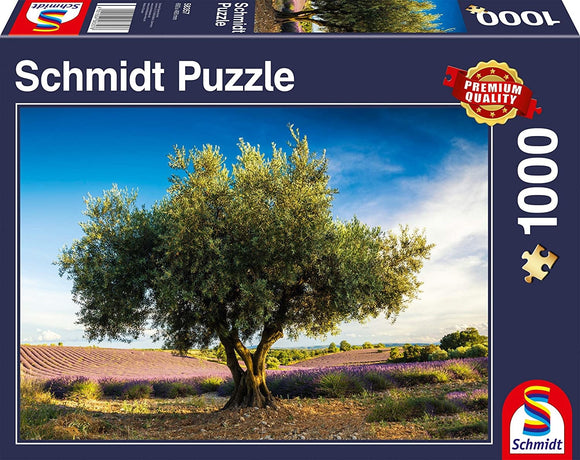 Table Top Cafe Puzzle: 1000 Olive tree in Provence