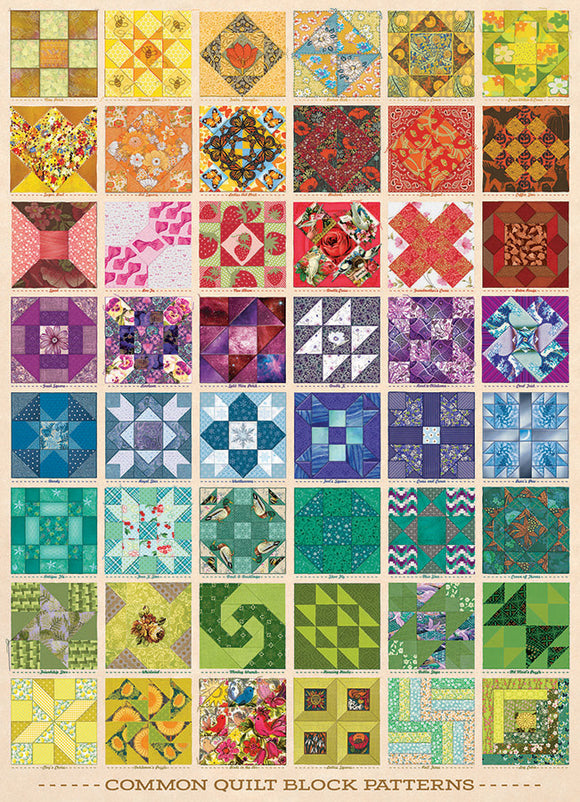 Table Top Cafe Puzzle: 1000 Common Quilt Blocks