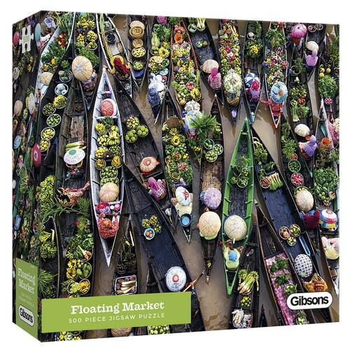 Table Top Cafe Puzzle: 500 Floating Market