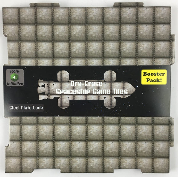 Table Top Cafe Dungeon Tiles - Steel Plate - Pack of 2 (10'') and 8 (5'') squares