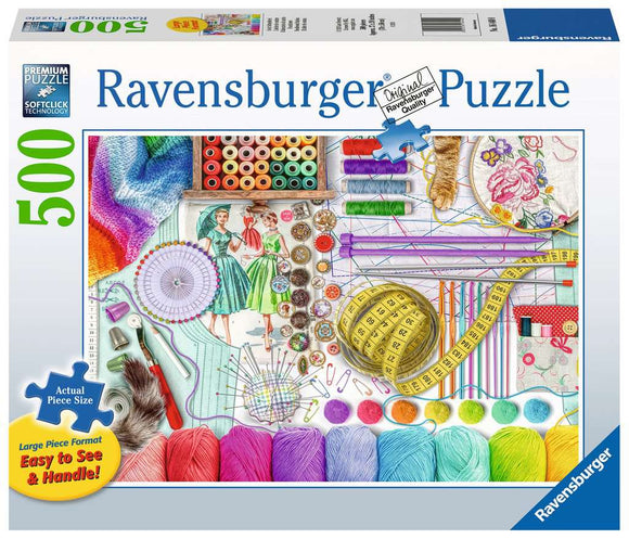 Table Top Cafe Puzzle: 500 Needlework Station