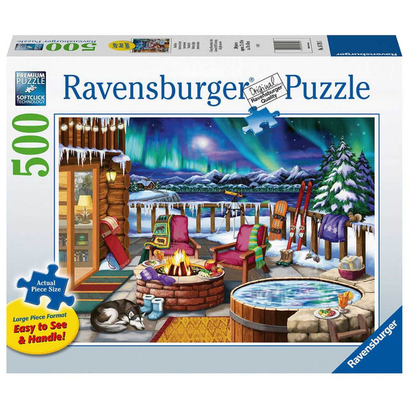 Table Top Cafe Puzzle: 500 Northern Lights