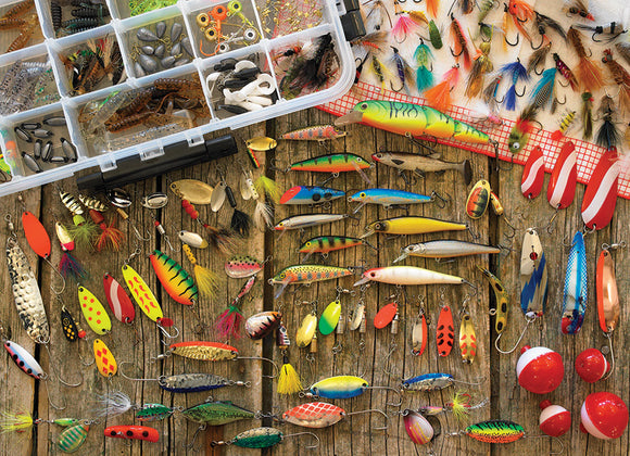 Table Top Cafe Puzzle: 500 Fishing Lures