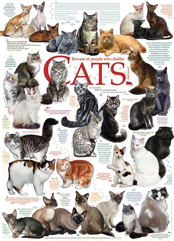 Table Top Cafe Puzzle: 1000 Cat Quotes