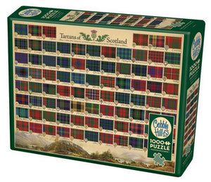 Table Top Cafe Puzzle: 1000 Tartans of Scotland
