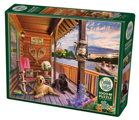 Table Top Cafe Puzzle: 1000 Welcome to the Lake House