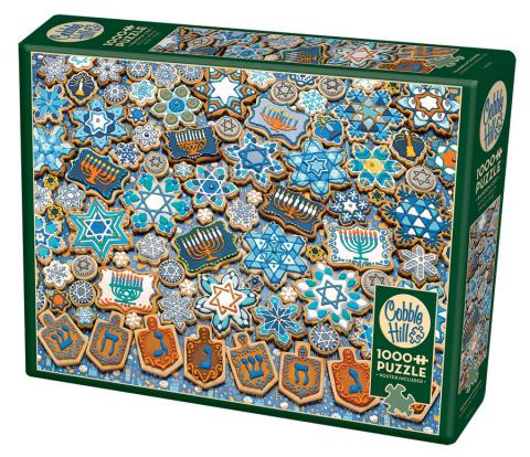 Table Top Cafe Puzzle: 1000 Hanukkah Cookies