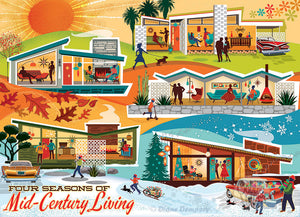Table Top Cafe Puzzle: 500 Four Seasons of Mid-Century Living