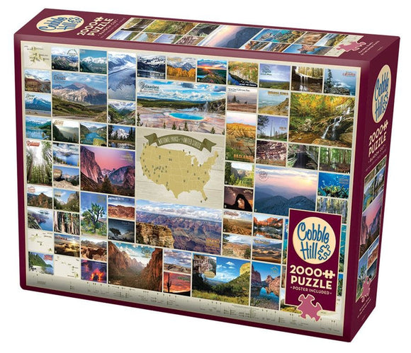 Table Top Cafe Puzzle: 2000 National Parks of the United States