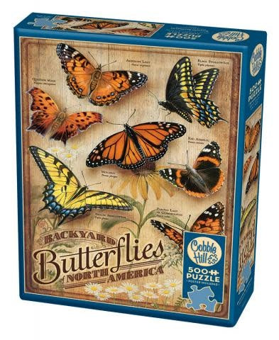 Table Top Cafe Puzzle: 500 Backyard Butterflies