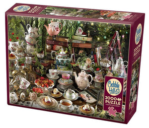 Table Top Cafe Puzzle: 2000 Mad Hatter's Tea Party