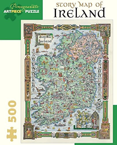 Table Top Cafe Puzzle: 500 Story Map of Ireland