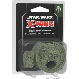 Table Top Cafe Star Wars: X-Wing 2.0 - Scum Maneuver Dial Upgrade Kit