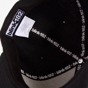 blink-182 Bold Box Snapback Hat Black