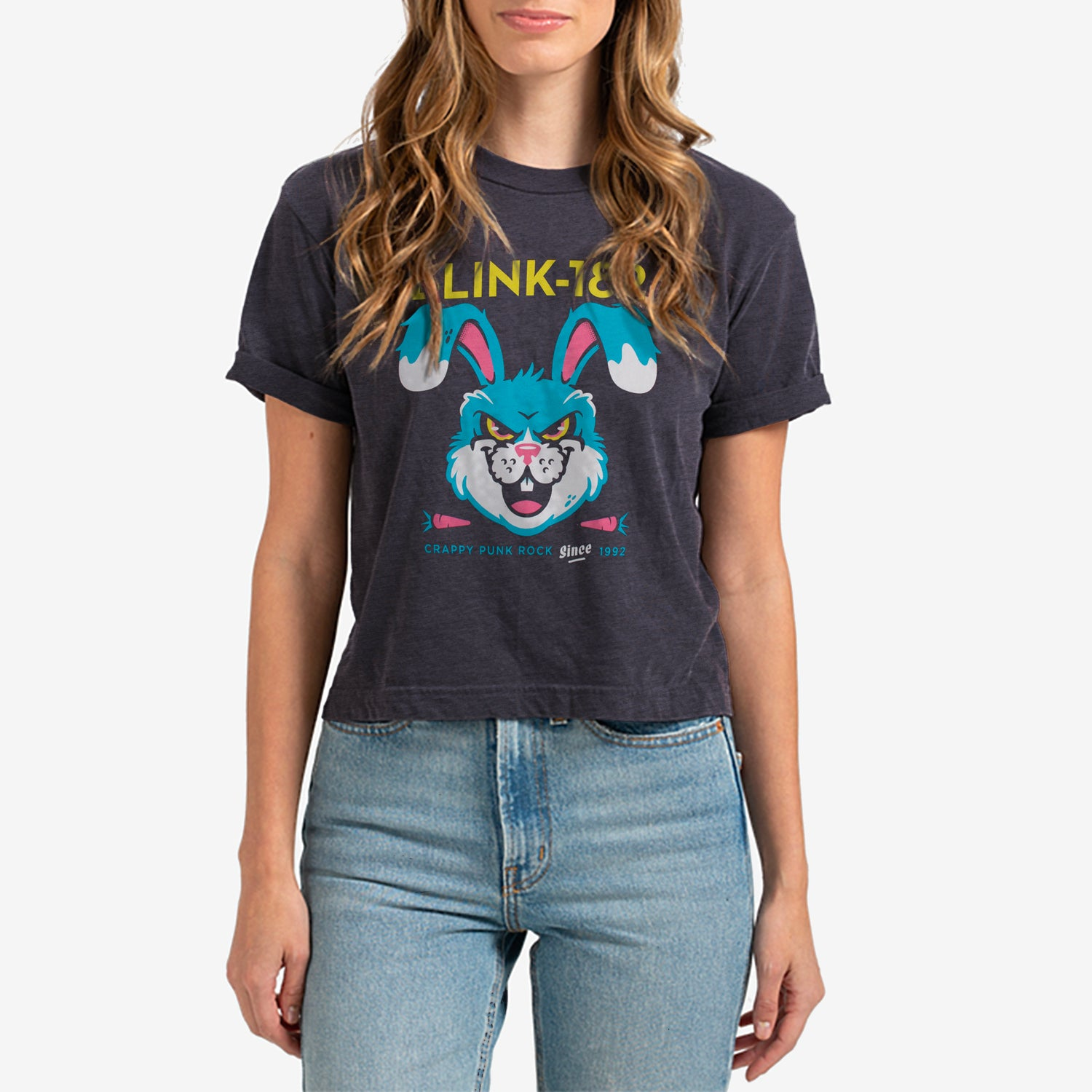 blink-182 Carrots Crop Tee Washed Black