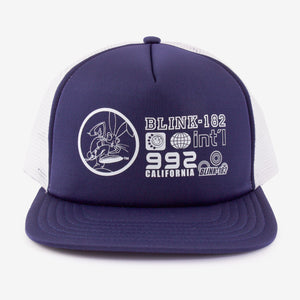 blink-182 International 21 Trucker Hat Navy White
