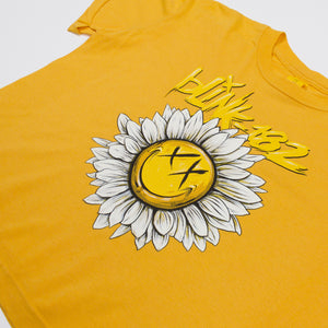 blink182 Sunflower Power Crop Tee Mellow Yellow