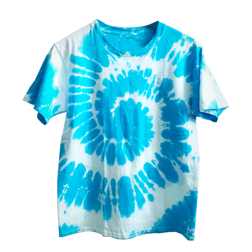 Blue X White Tie Dye Shirt