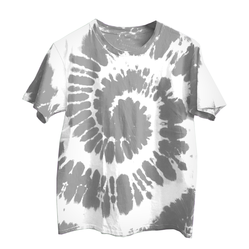 Gray X White Tie Dye Shirt