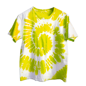 Yellow X White Tie Dye Shirt