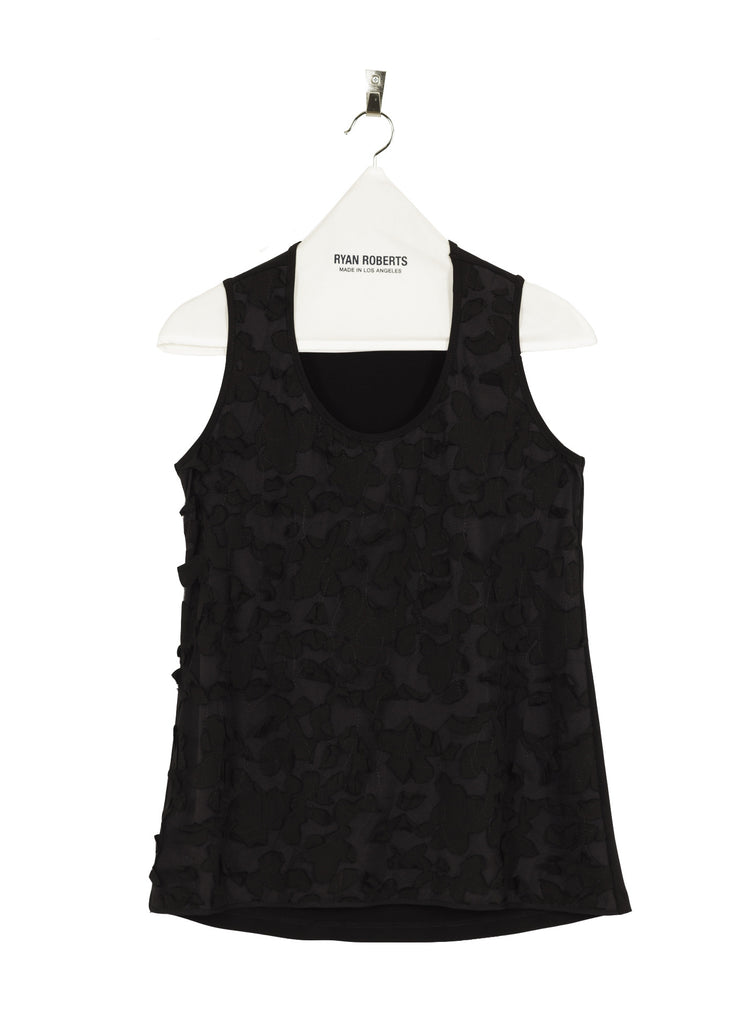 Jersey Embroidered Tank Front