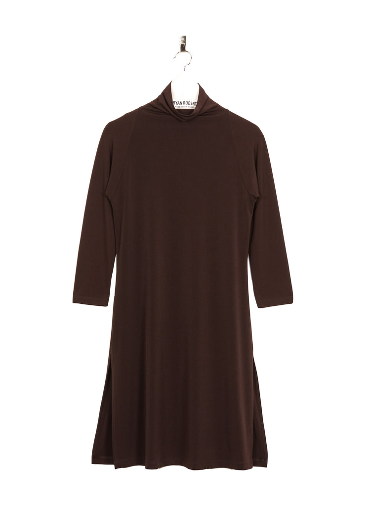 Jersey Margot Tunic - Coffee