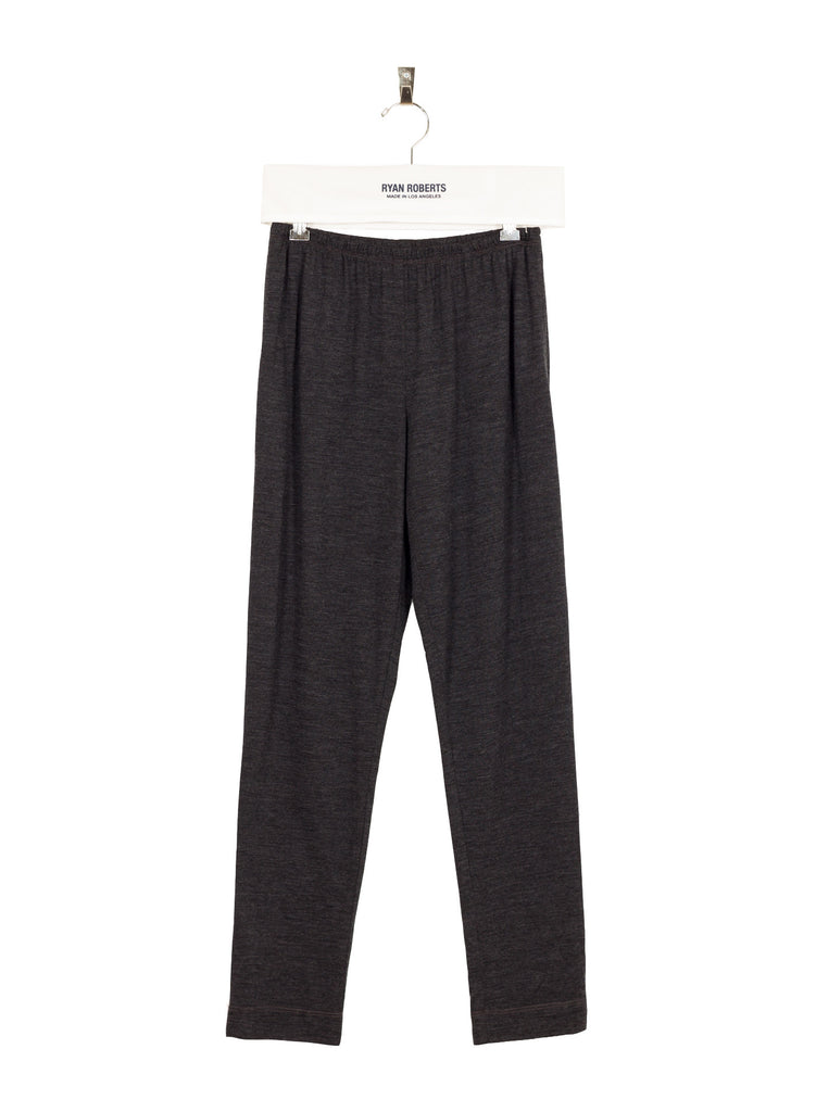 Wool Jersey Pant - Charcoal