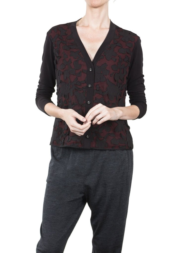 Jersey Embroidered Cardigan
