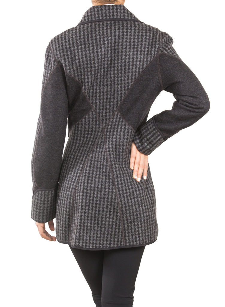 Kristen Coat Graphite Back