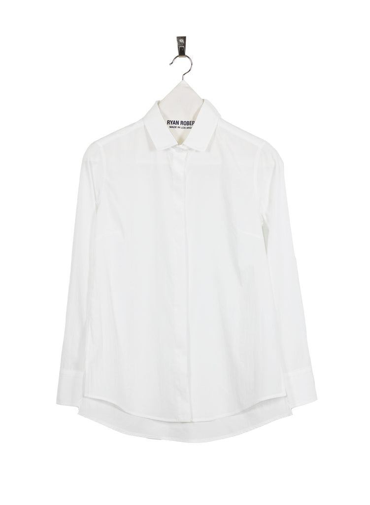 Tech Button Shirt - White