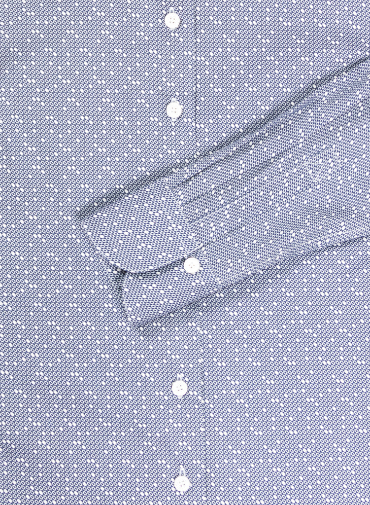 Adrian Shirt Blue Dot Detail