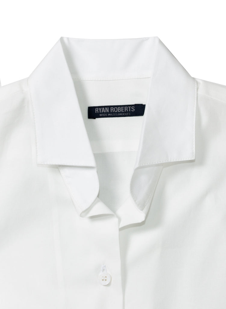 Adrian White Shirt Collar Detail