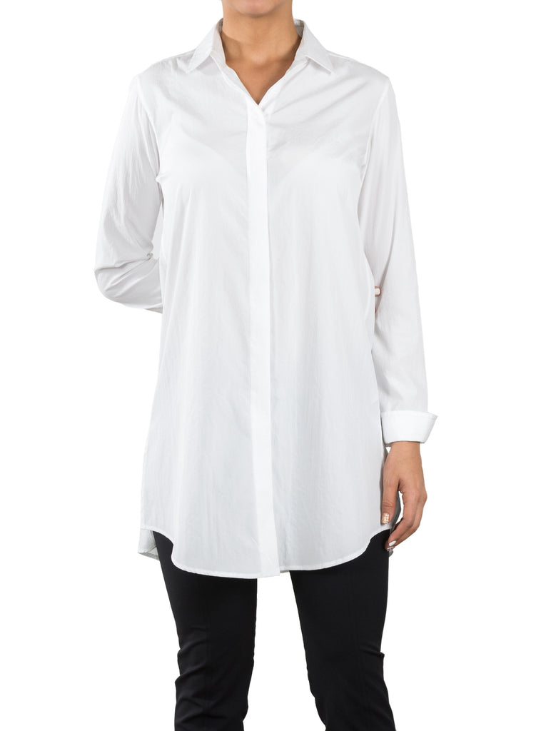 Tech Elongated Shirt - White