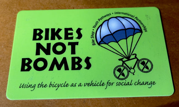 Bikes Not Bombs Gift Card