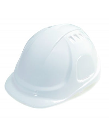 Vented Hard Hat with 6 Point Ratchet Suspension