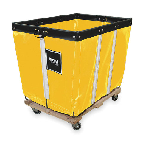 Basket Truck for Storage and Rapid Deployment of Emergency Equipment, Permanent Liner, Yellow